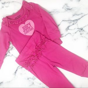 Juicy Couture Pink Ruffle 2 Piece Set, 6-9M